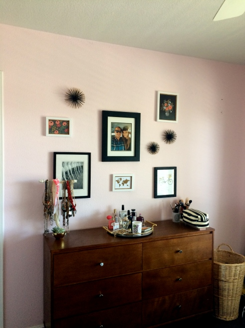 bedroom makeover, bedroom redo, gallery wall,